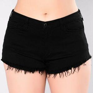 NWOT Black Denim Light Shorts Summer Distressed 29